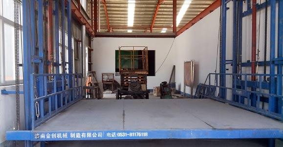 山西四海进通奥康农夫产品公司采购室内使用大台面导轨升降机