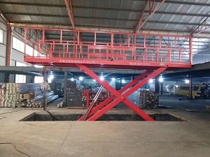 固定式升降机发货到山东美格铝业调试安装