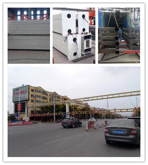 济南金创生产的限高杆在河南安装完成