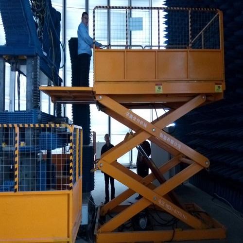 机场仓库使用固定剪叉升降机