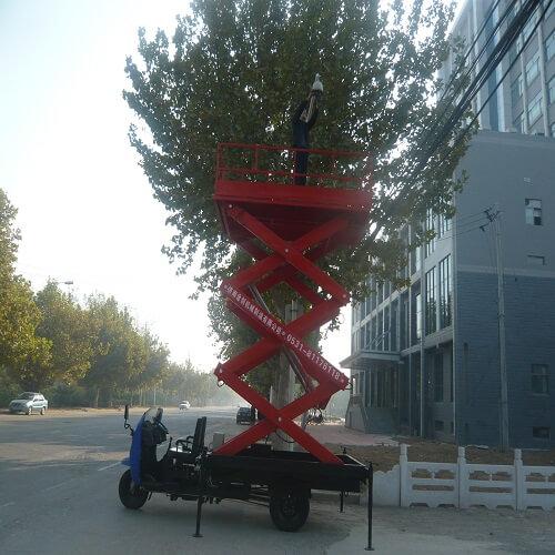 柴油三轮车动力车载升降机图片
