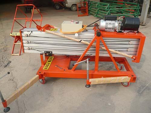 电动放倒单柱铝合金升降货梯,存放空间小、满足使用空间要求