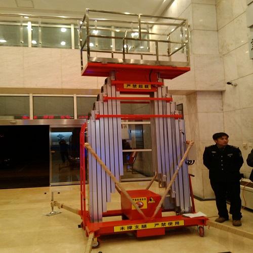 体育馆使用多柱铝合金升降货梯
